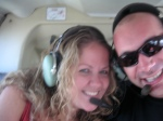 Helicopter Ride Around LA 2008 - Mary and Me