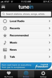 TuneIn Radio - Browse